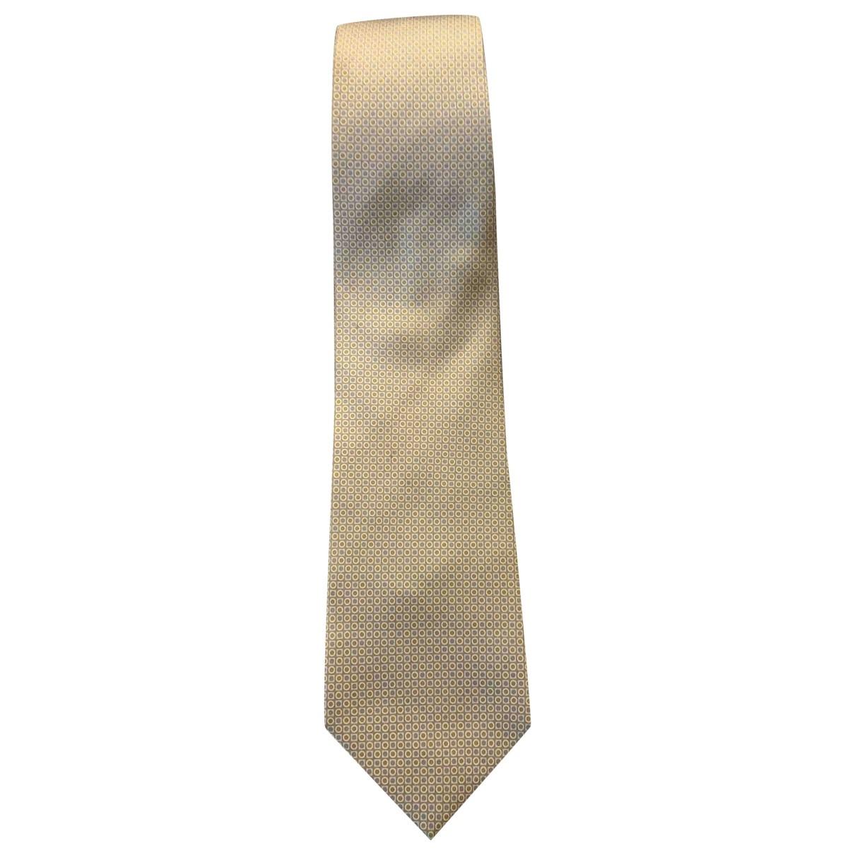 Lancel - Cravates   pour homme en soie - beige