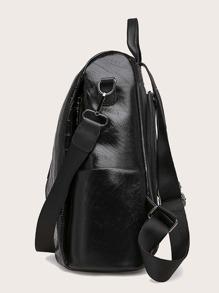 Croc Embossed Backpack