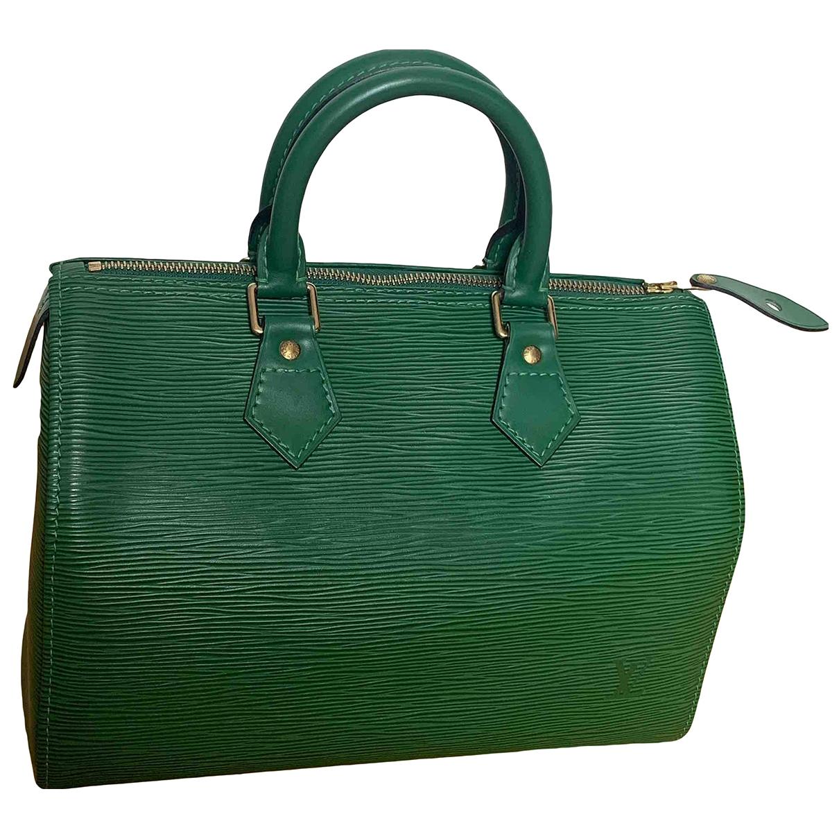 Louis Vuitton - Sac a main Speedy pour femme en cuir - vert