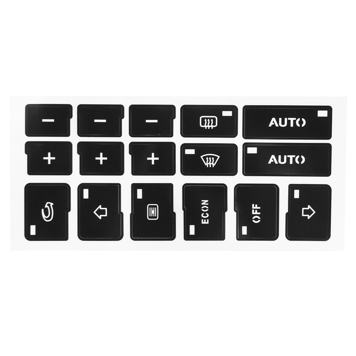 AC Climate Control Button Repair Stickers Decals For Audi A4 B6 B7 2000-2004