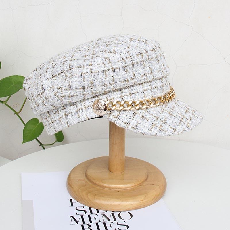 Ericdress Chain Wool Blends Plaid Fall Hats