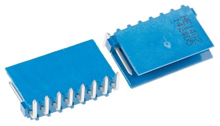 TE Connectivity , AMPMODU HE14, 8 Way, 1 Row, Right Angle PCB Header (10)