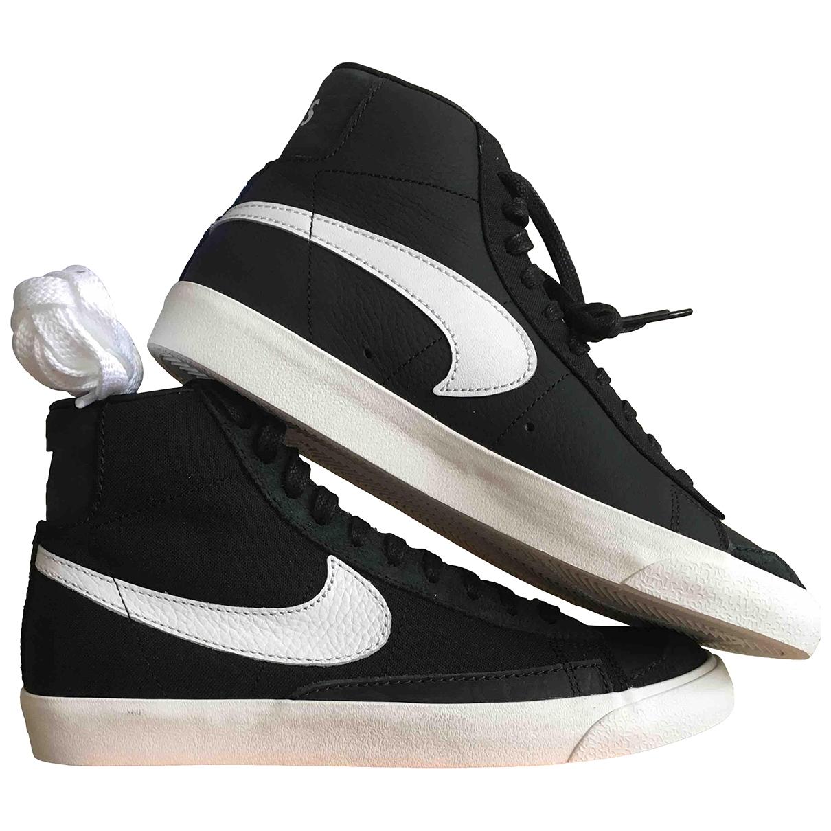 Nike - Baskets Blazer pour homme en cuir - noir