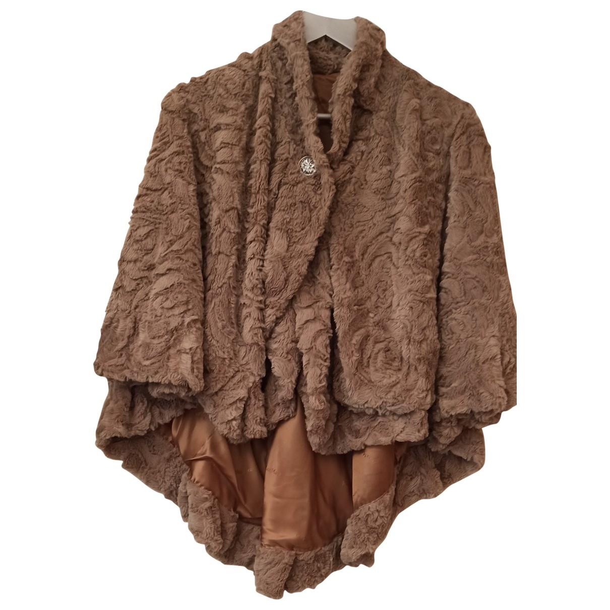 Non Signé / Unsigned \N Ecru Faux fur jacket for Women M International