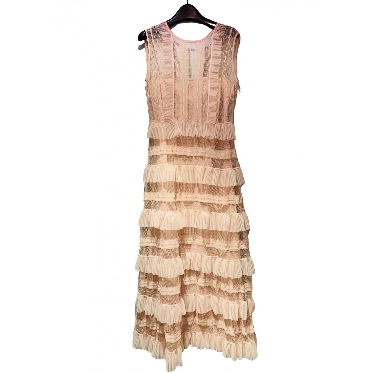 Red Valentino Garavani \N Beige Silk dress for Women 38 FR
