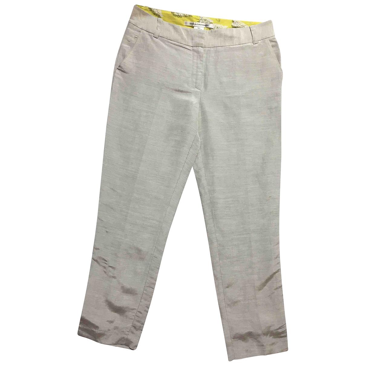 Diane Von Furstenberg \N Grey Trousers for Women 1 US