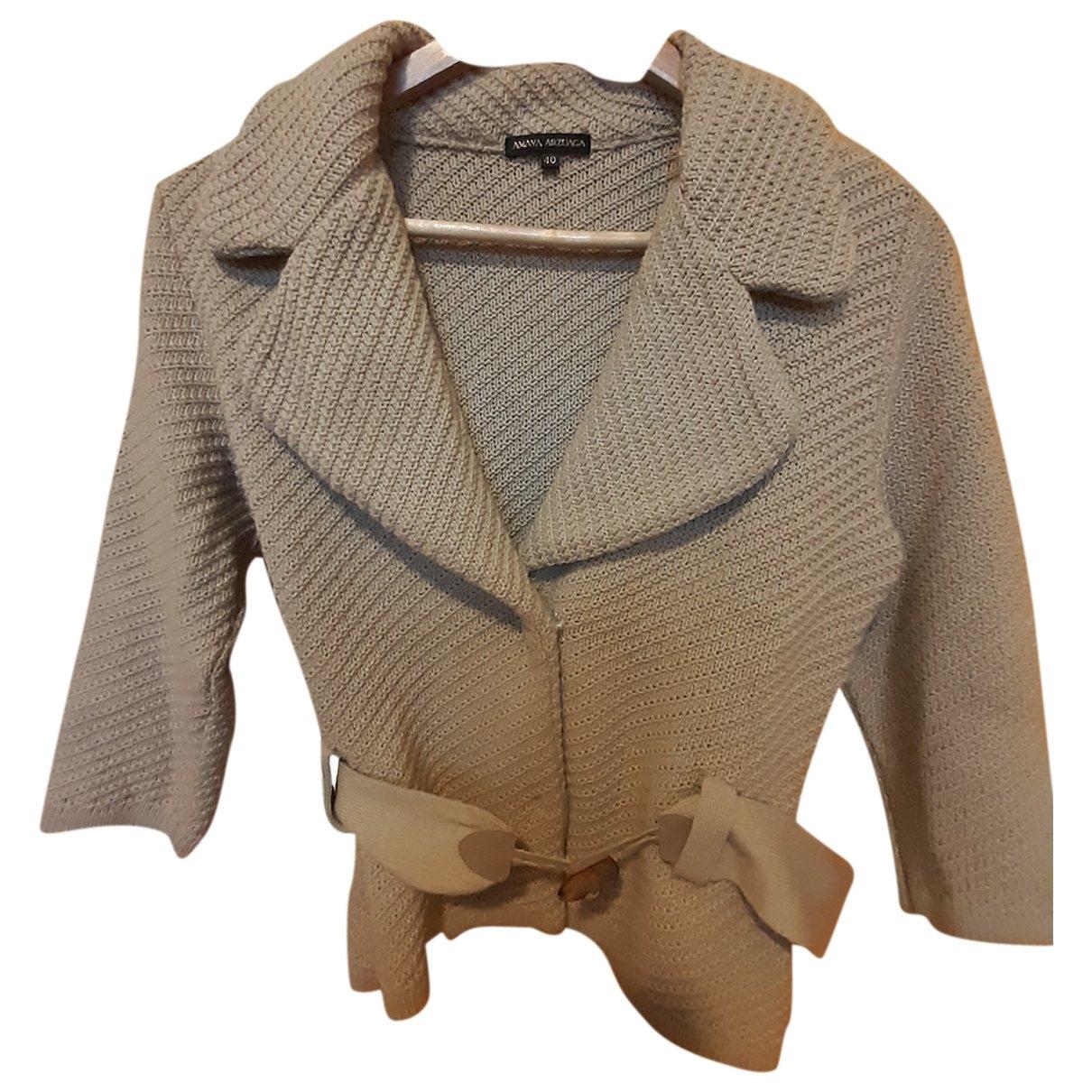 - Veste   pour femme en laine - beige