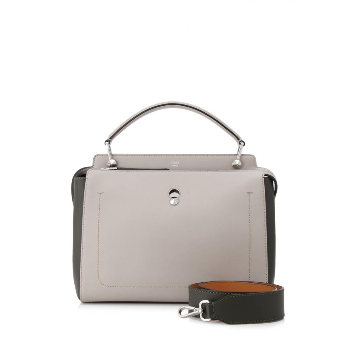 Fendi Dot Com Grey Leather handbag for Women \N