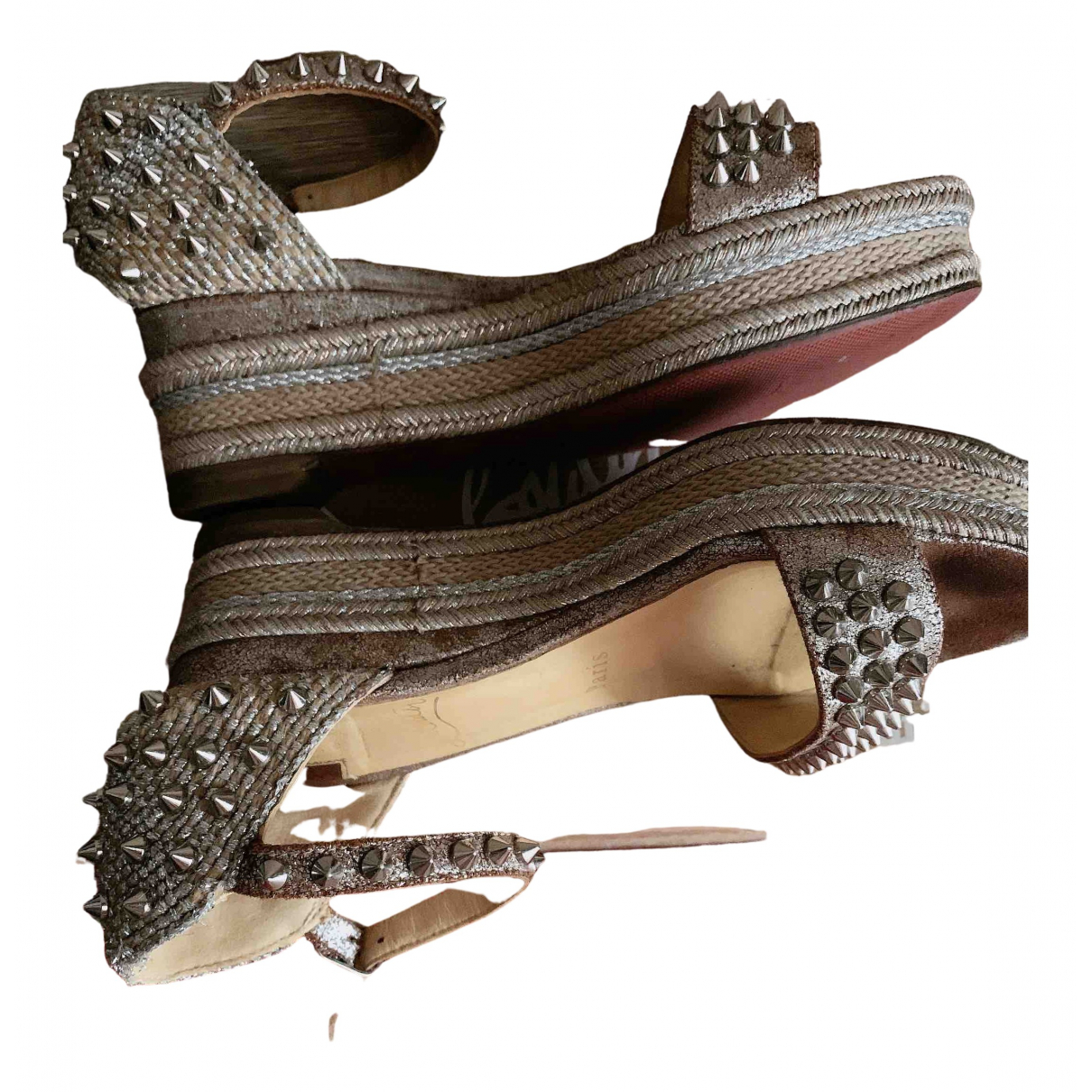 Sandalias romanas Cataclou de Cuero Christian Louboutin