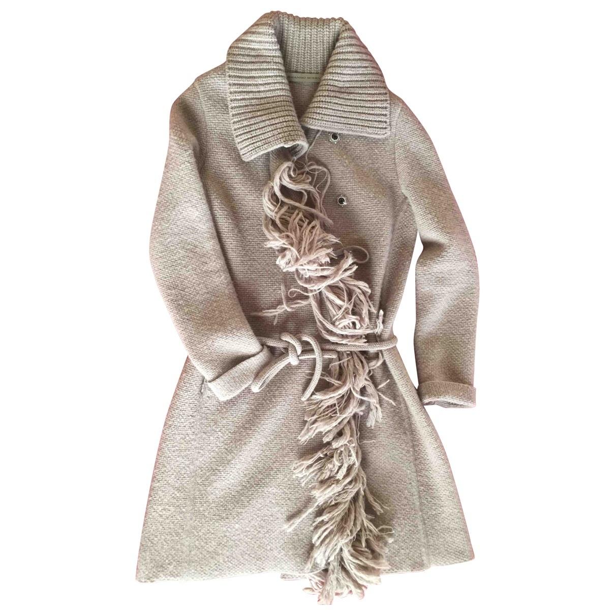Ermanno Scervino - Manteau   pour femme en laine - beige