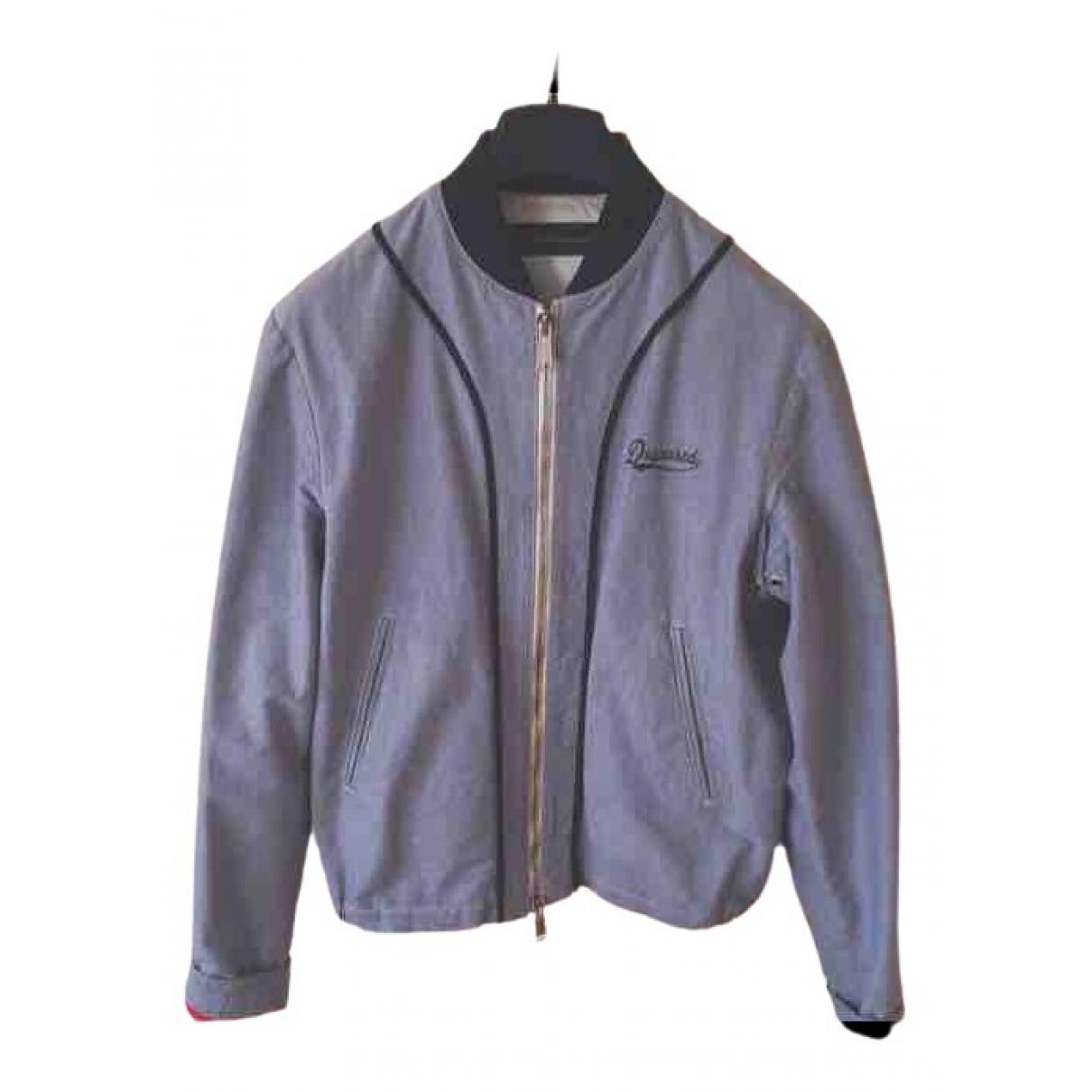 Dsquared2 \N Blue Cotton jacket  for Men 48 IT