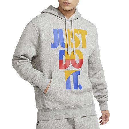 Nike Just Do It Mens Long Sleeve Hoodie, Medium , Gray