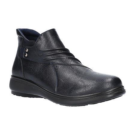 Easy Street Womens Jo Booties Flat Heel, 8 Wide, Blue