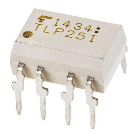 Toshiba , TLP352 AC Input Infrared LED Output Optocoupler, Through Hole, 8-Pin DIP (5)