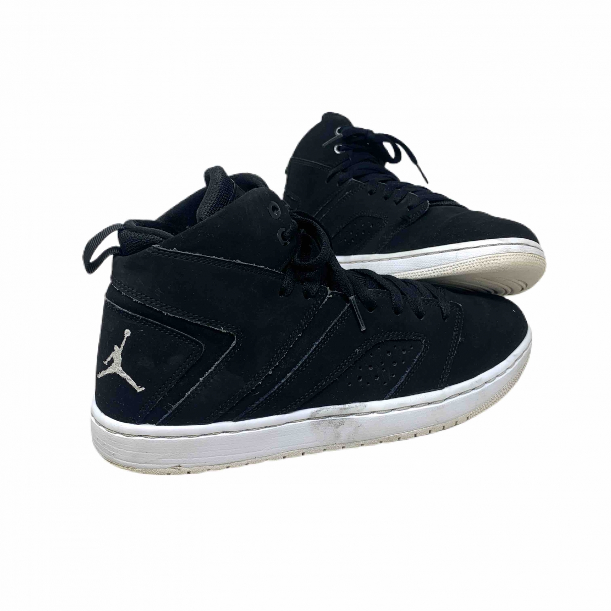 Jordan \N Sneakers in  Schwarz Leinen