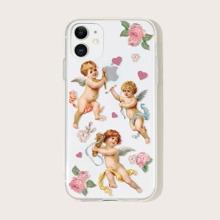 1pc Angel Print iPhone Case