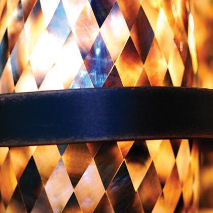 Monaco 6011AC/SHELL 1-Light Wall Bracket in Antique Copper with Monaco Black Lip Side Shade Glass