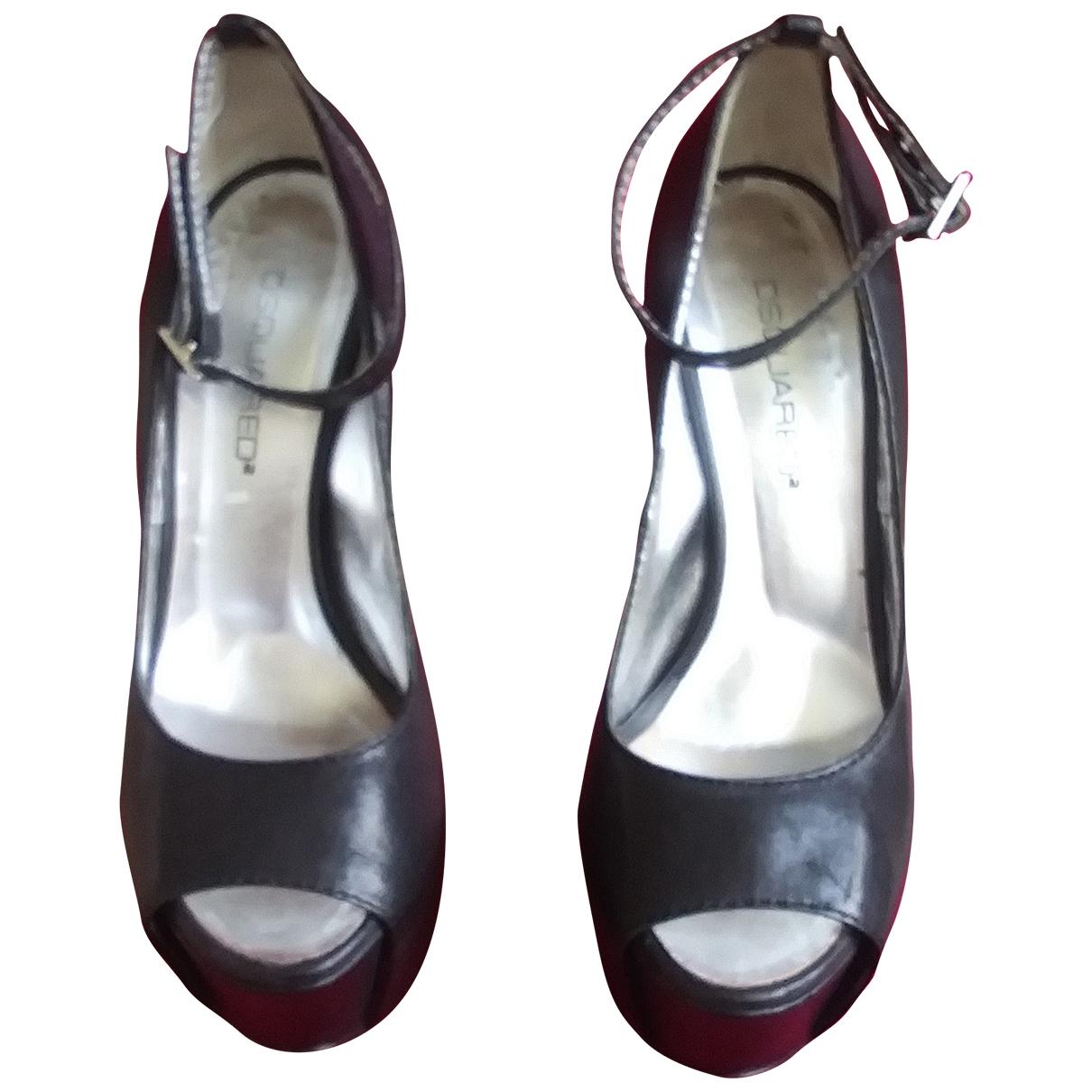 Dsquared2 - Sandales   pour femme en cuir - noir