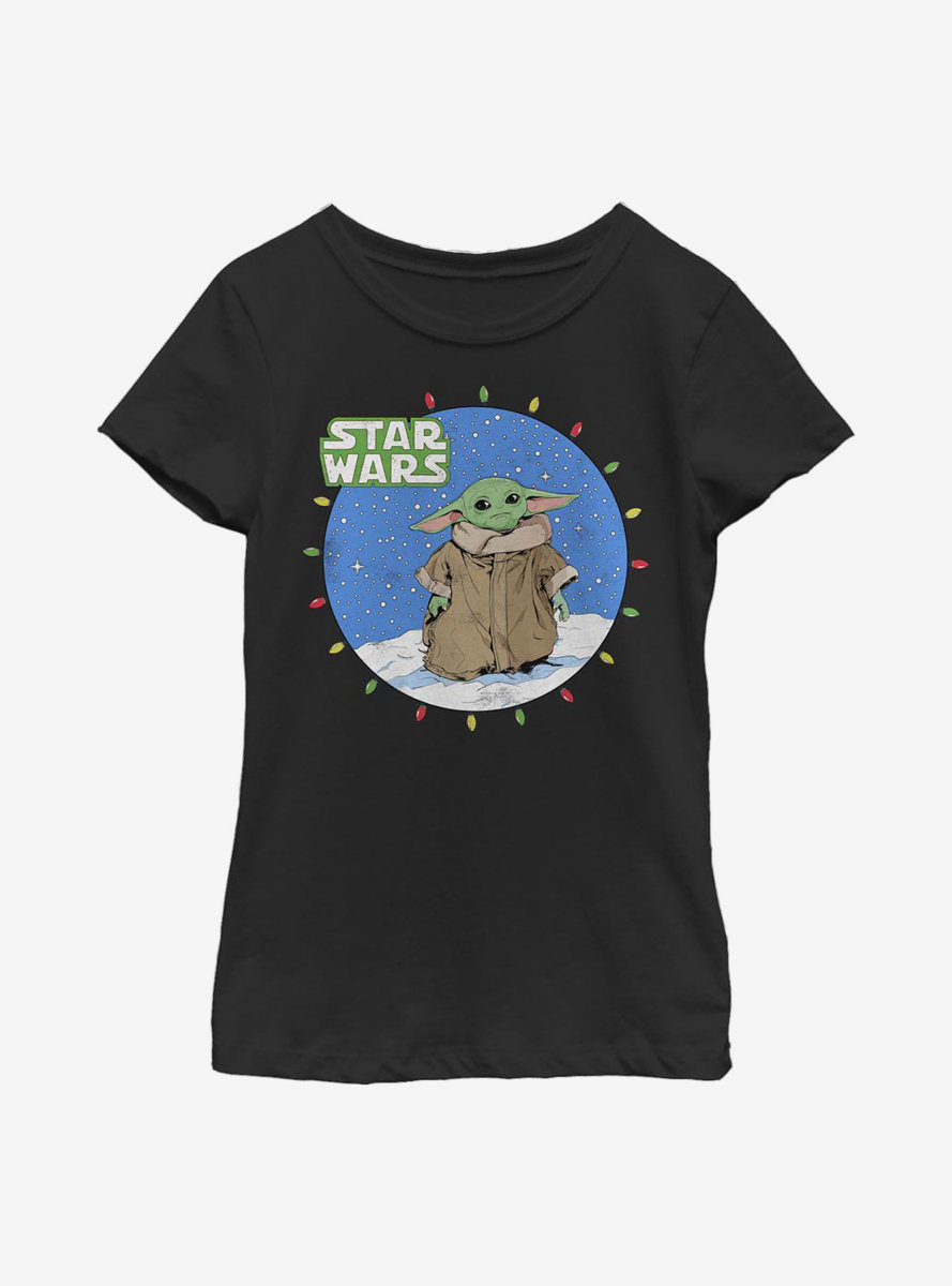 Star Wars The Mandalorian The Child Snow Baby Lights Youth Girls T-Shirt