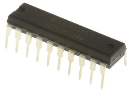 Texas Instruments SN74HC574N Octal D Type Flip Flop IC, 3-State, 20-Pin PDIP (20)