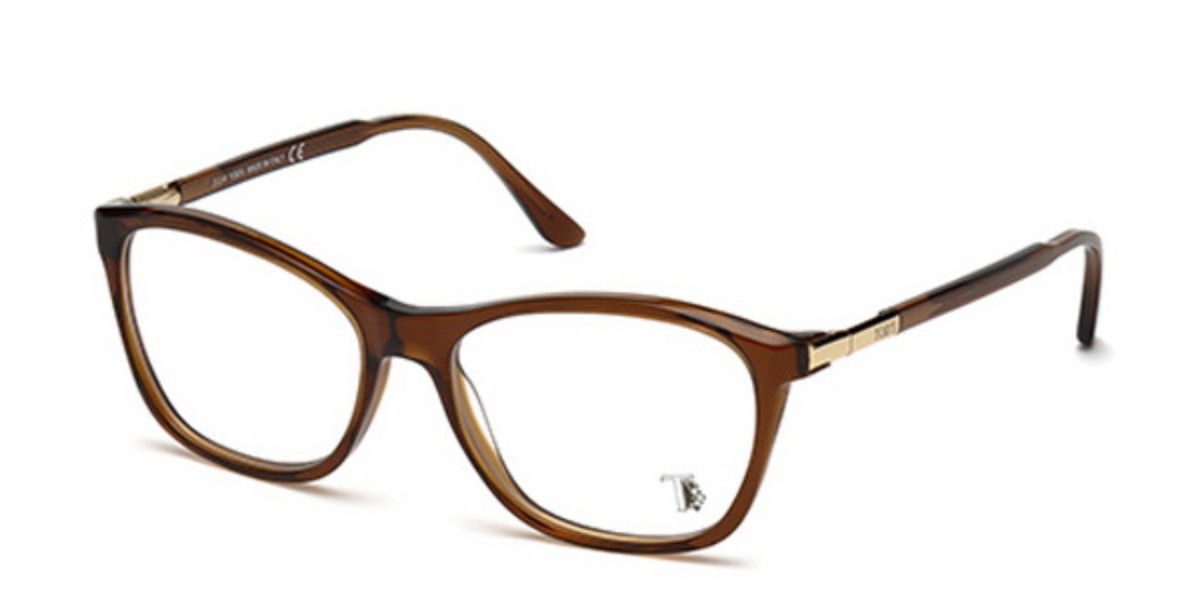 TODS TO5130 048 Women's Glasses Brown Size 54 - Free Lenses - HSA/FSA Insurance - Blue Light Block Available