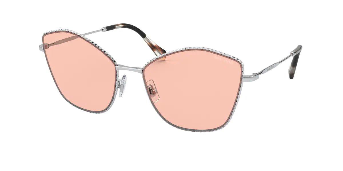 Miu Miu MU60VS 1BC03F Women's Sunglasses Silver Size 60