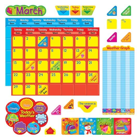 Classic Calendar Duo Bulletin Board Set By Michaels®