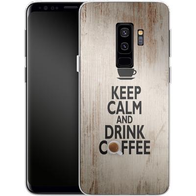 Samsung Galaxy S9 Plus Silikon Handyhuelle - Drink Coffee von caseable Designs