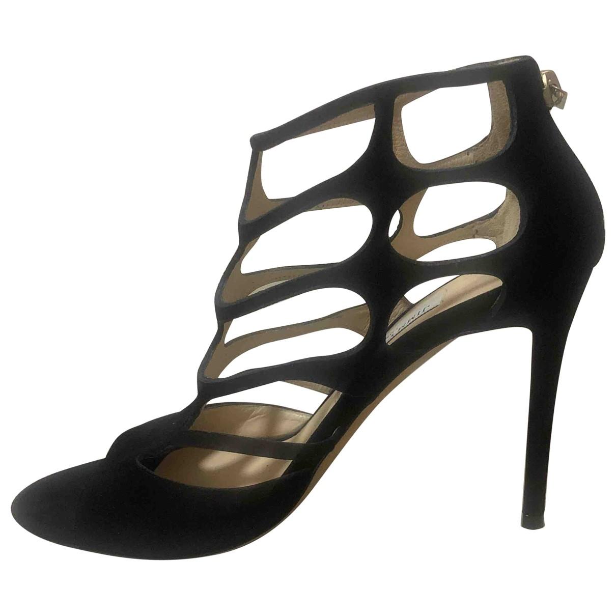 Jimmy Choo \N Black Suede Sandals for Women 39 EU