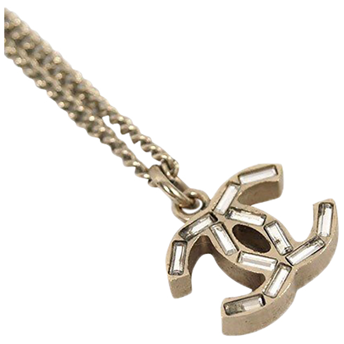 Chanel CC Silver Metal necklace for Women N
