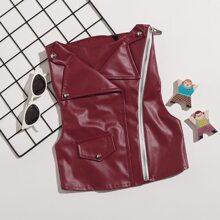 1pc Dog Punk Lapel Vest