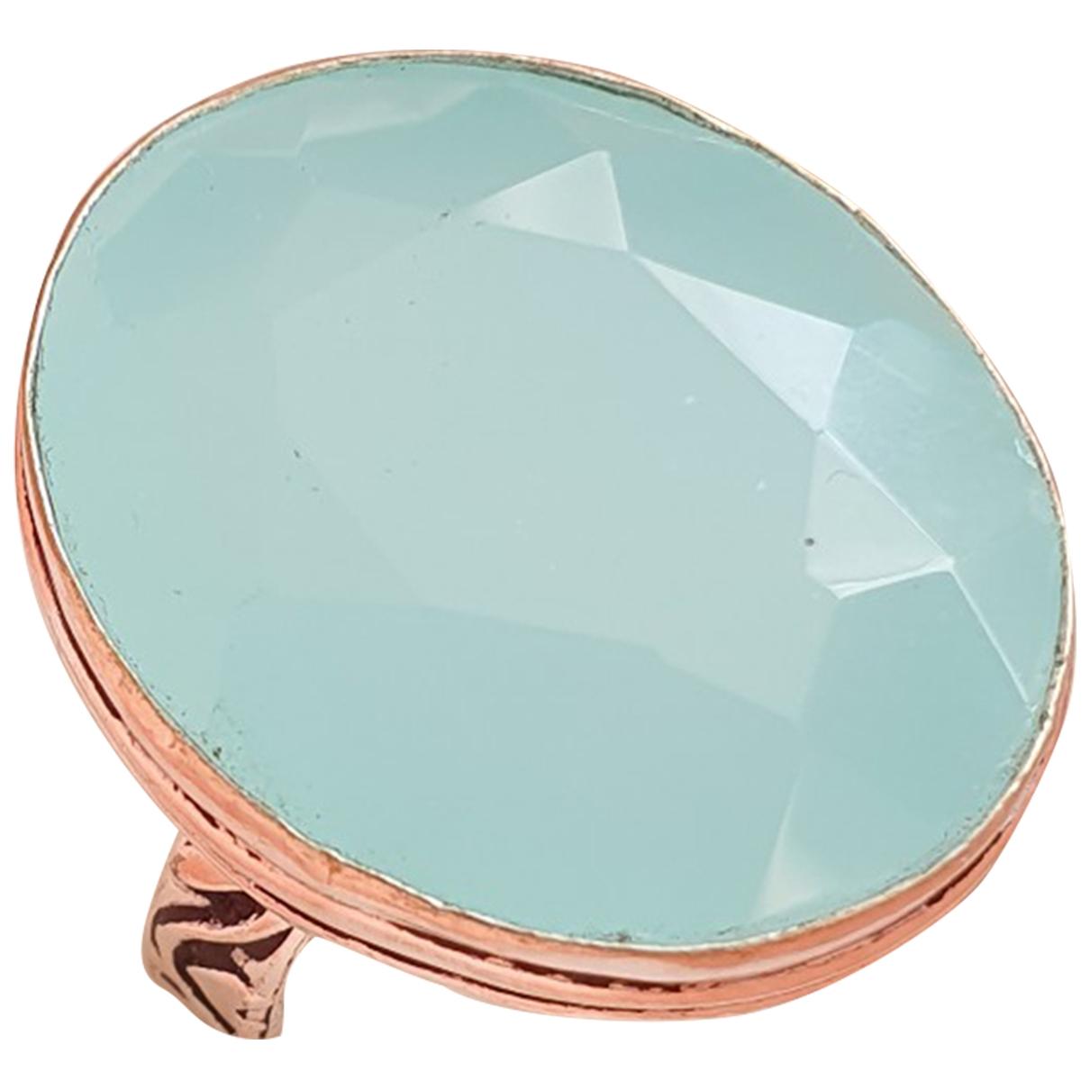 - Bague   pour femme en argent - bleu