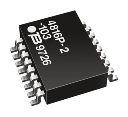 Bourns 4800P Series 220Ω ±2% Isolated SMT Resistor Array, 8 Resistors, 1.28W total DIP package Pin (5)