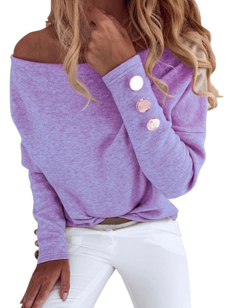 Milanoo Women Long Sleeves Sweatshirt