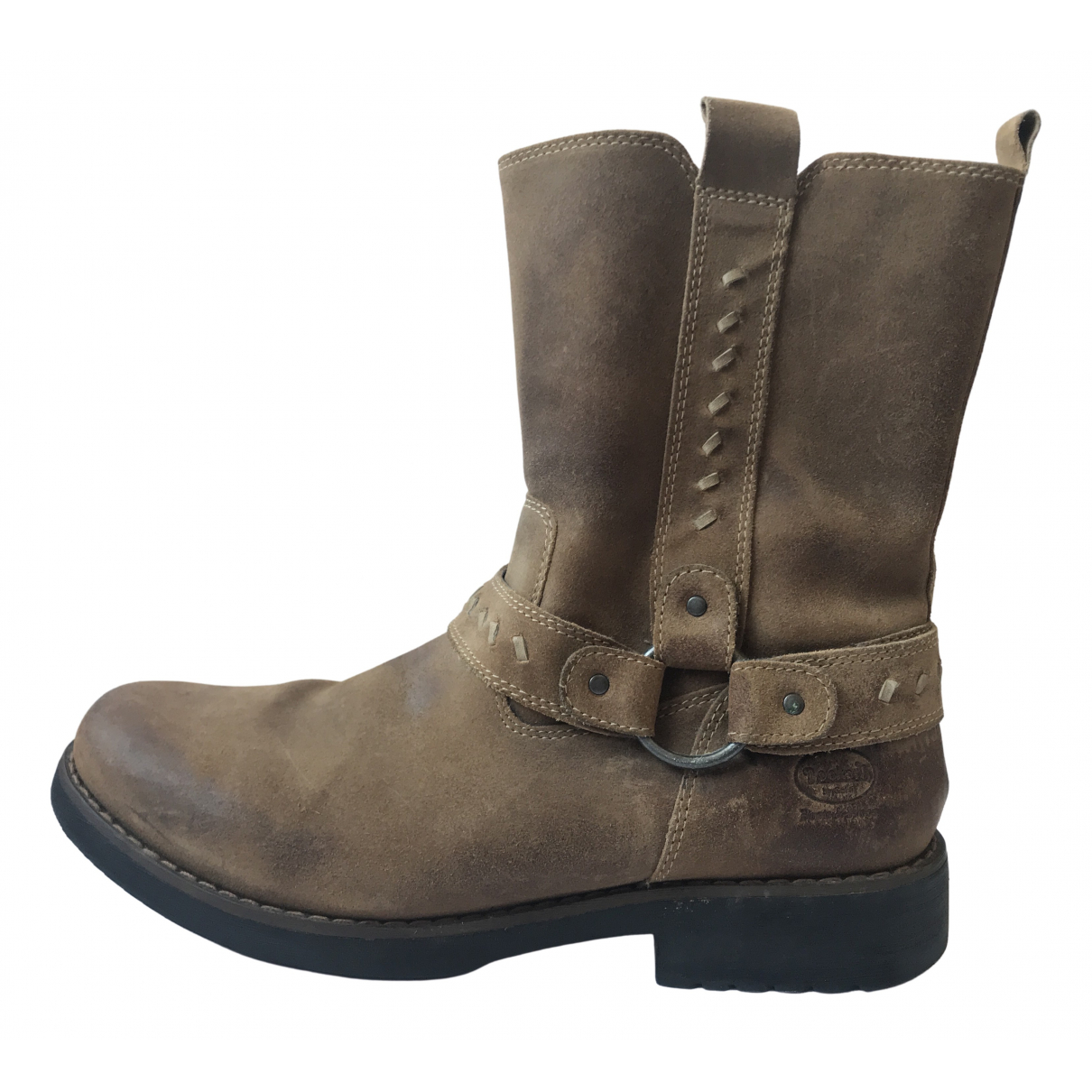 Non Signé / Unsigned \N Camel Leather Boots for Men 43 EU