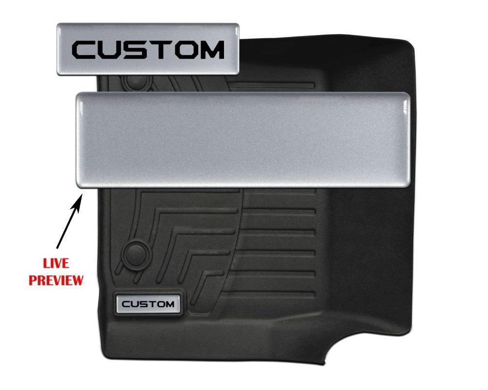 Tufskinz WTH001-GTO-238-G Badge/Emblem Inserts Fits Weathertech Floor Mats 2 Piece Kit With Custom Tundra Font (Silver Sky Metallic Badge)