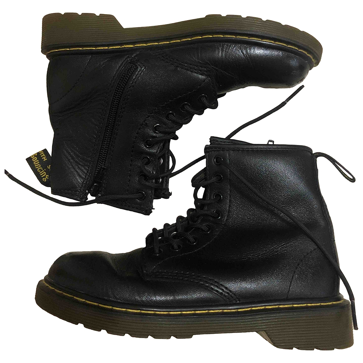 Dr. Martens \N Black Leather Boots for Kids 32 EU