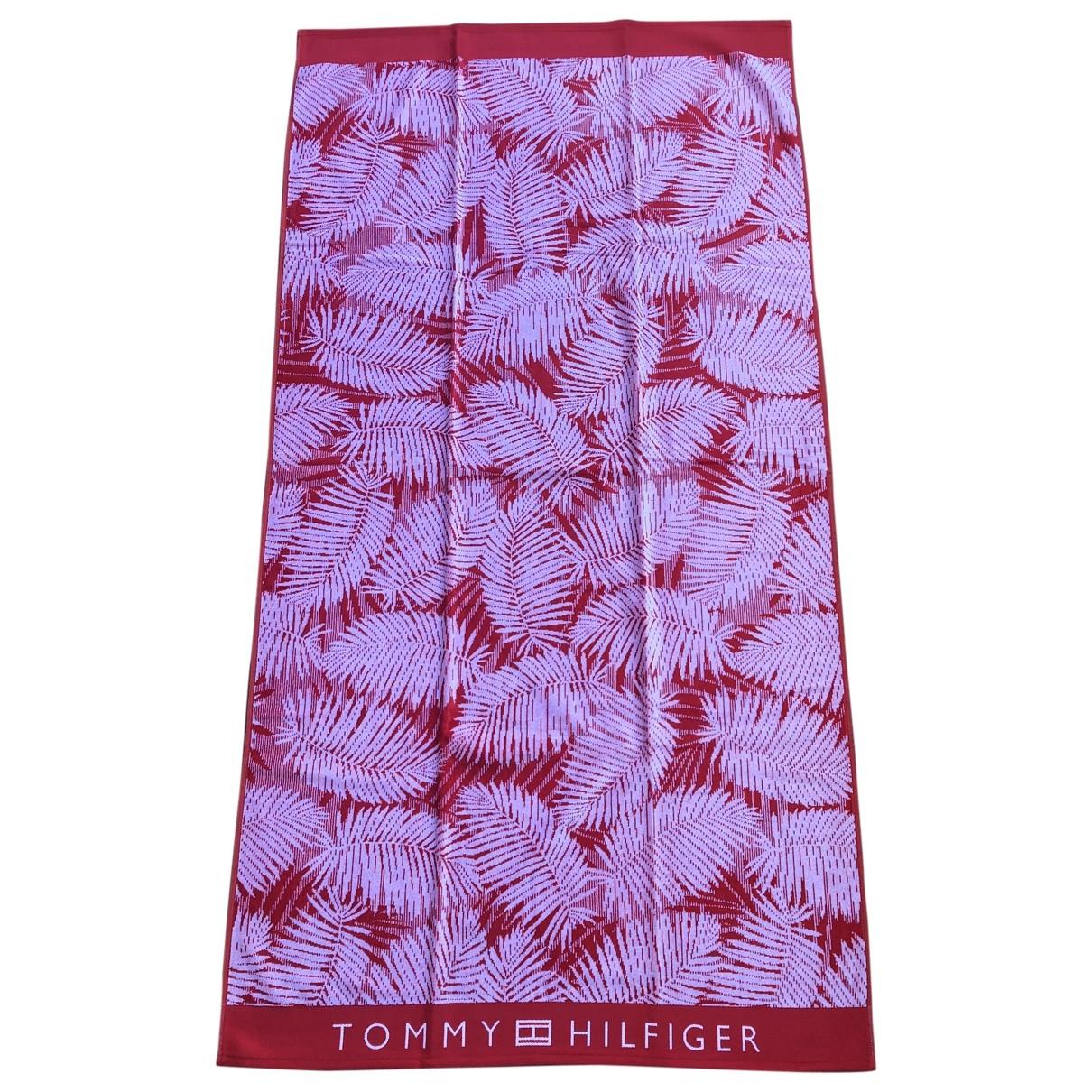 Tommy Hilfiger - Linge de maison   pour lifestyle en coton - rouge