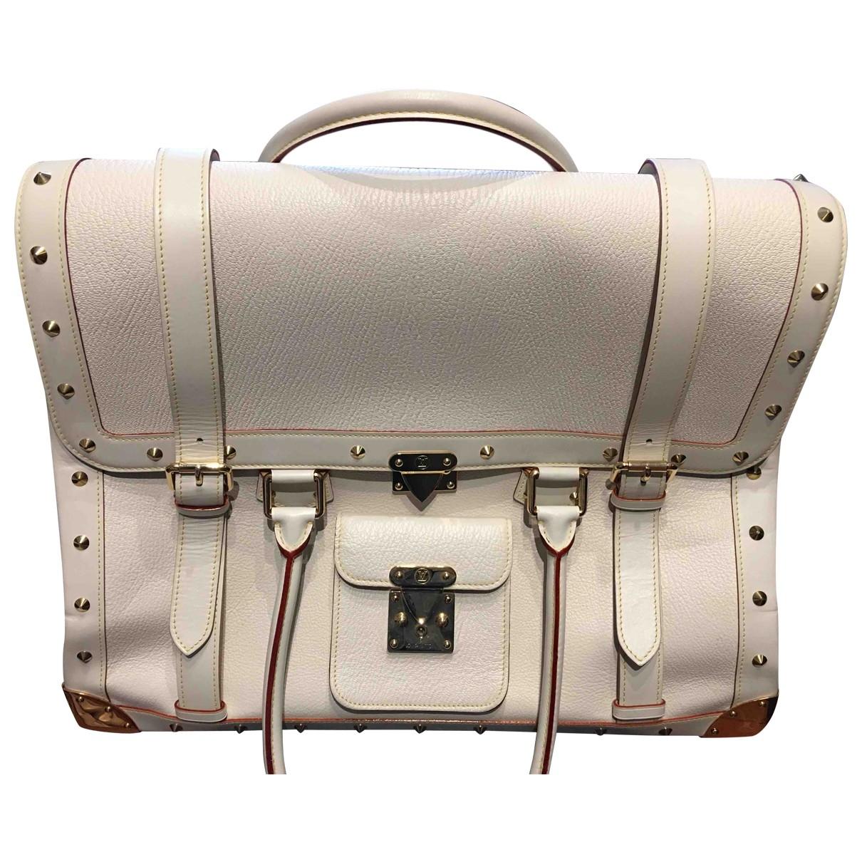 Louis Vuitton \N Reisetasche in  Ecru Leder