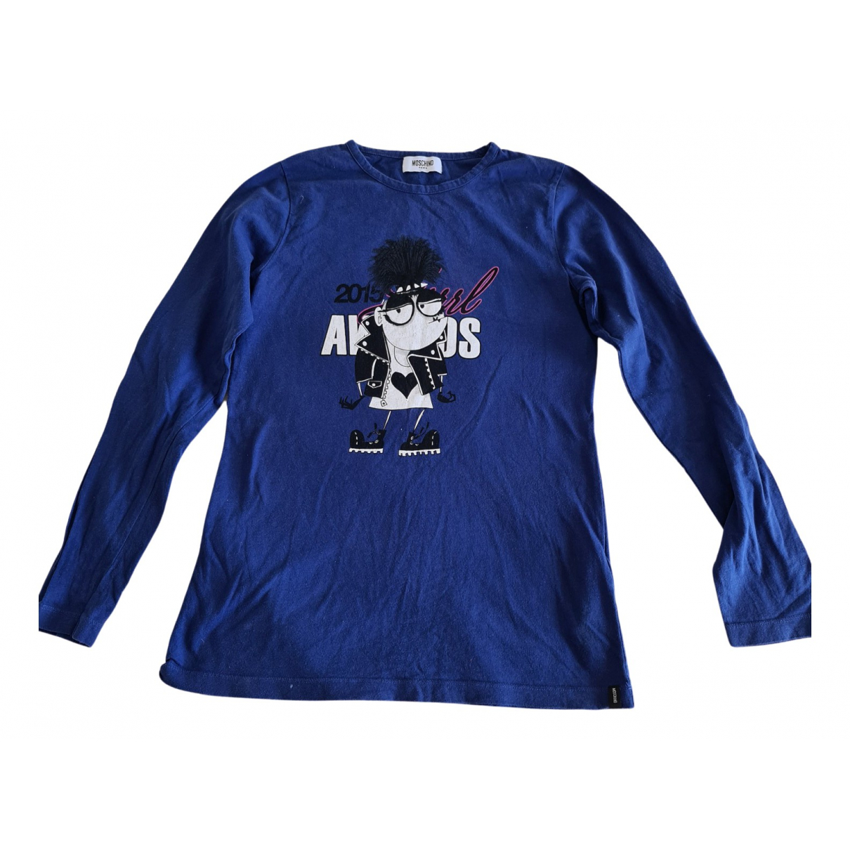Moschino N Blue Cotton  top for Women 36 FR