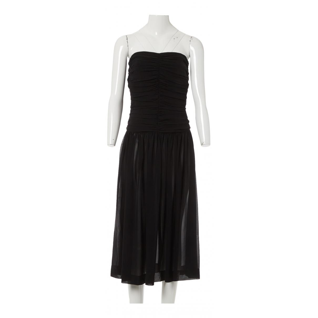 Yves Saint Laurent \N Black Silk dress for Women 42 FR