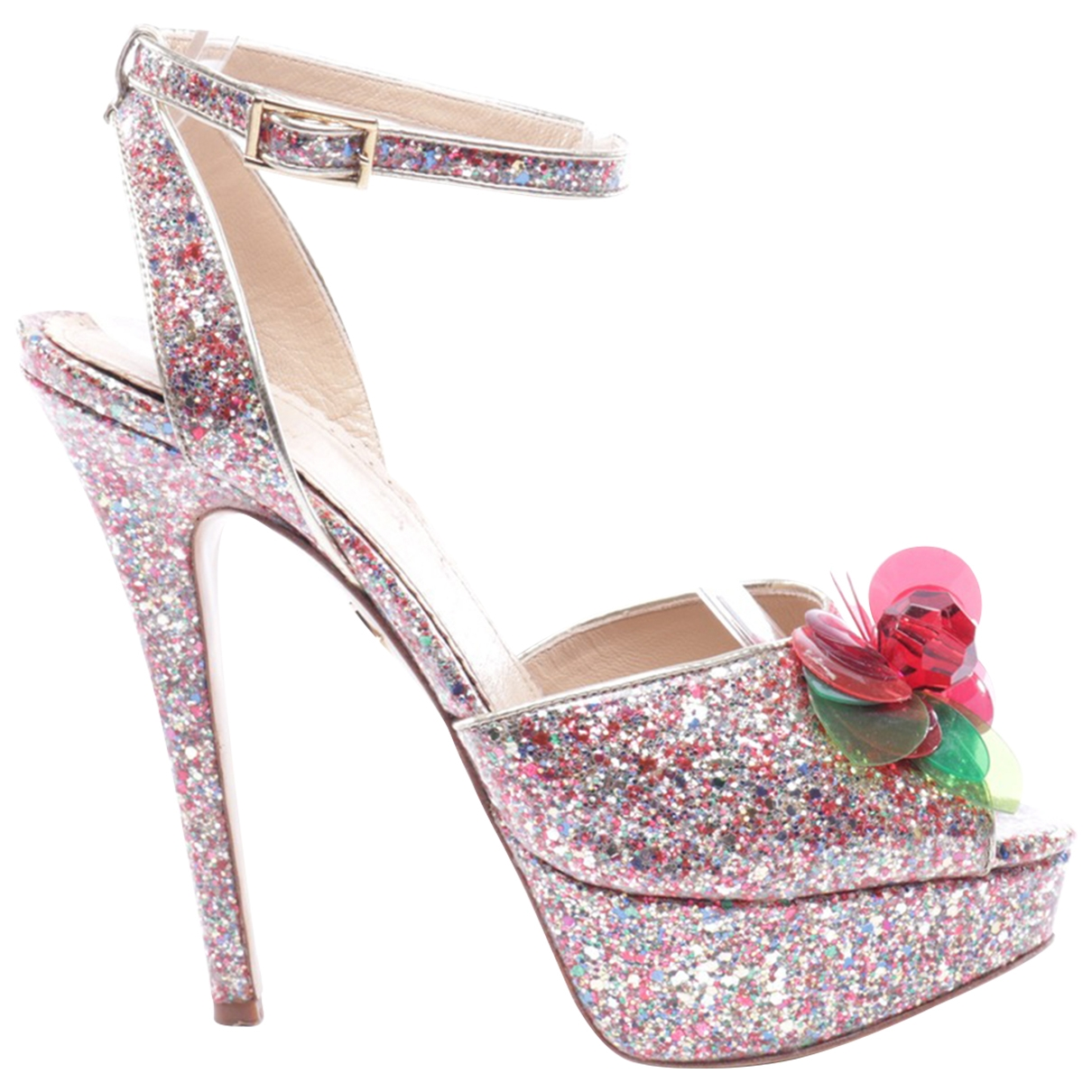 Charlotte Olympia \N Multicolour Leather Sandals for Women 37.5 EU