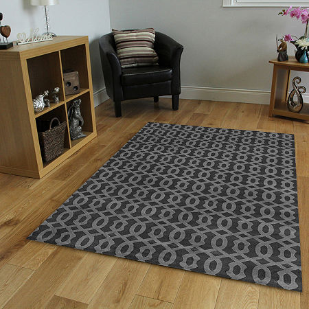 Basilica Allie Contemporary Geometric Area Rug, One Size , Gray