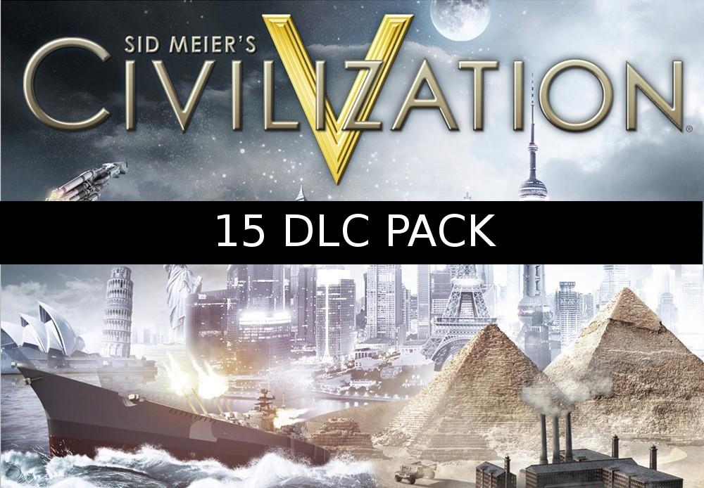 Sid Meiers Civilization V - 15 DLC Pack Steam CD Key