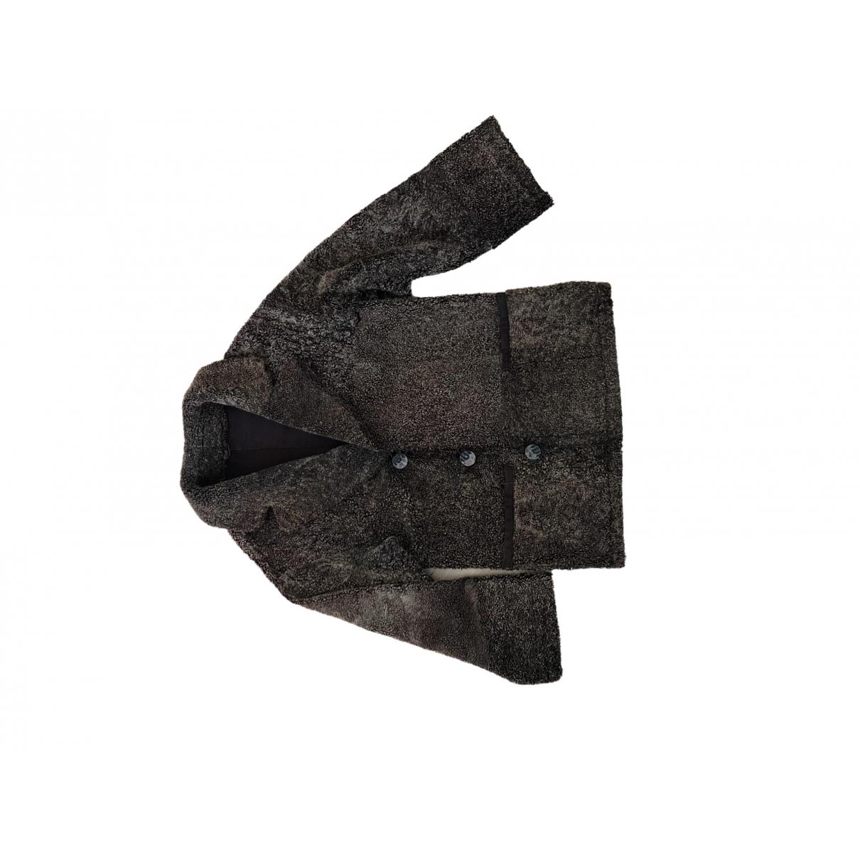Non Signe / Unsigned Oversize Jacke in  Braun Schaf
