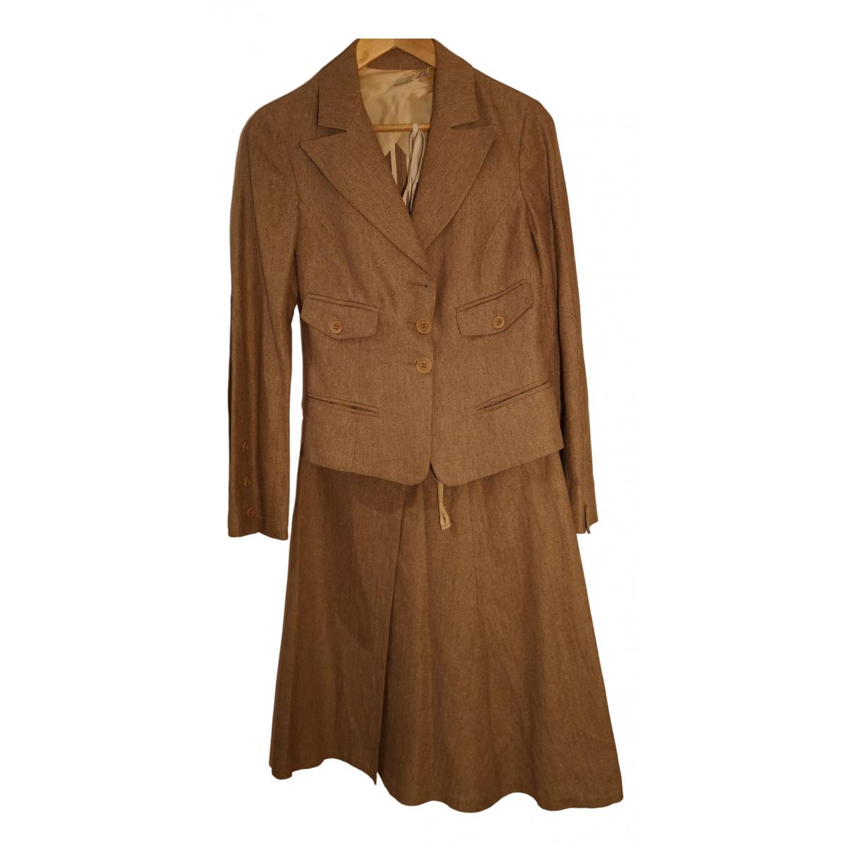 Pinko - Robe   pour femme en lin - ecru