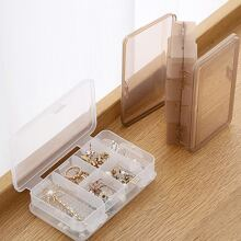 1pc Clear Double Sided Jewellery Storage Box