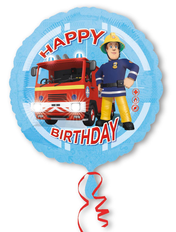 Folienballon Feuerwehrmann Sam Happy Birthday Farbe: multicolor bzw. bunt