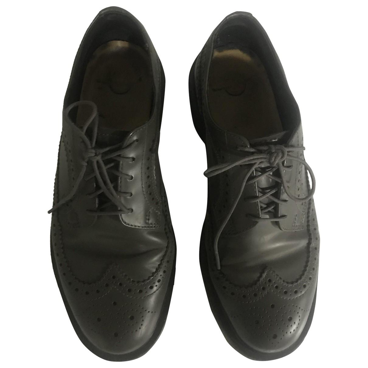 Dr. Martens 3989 (Brogue) Grey Leather Lace ups for Men 42 EU
