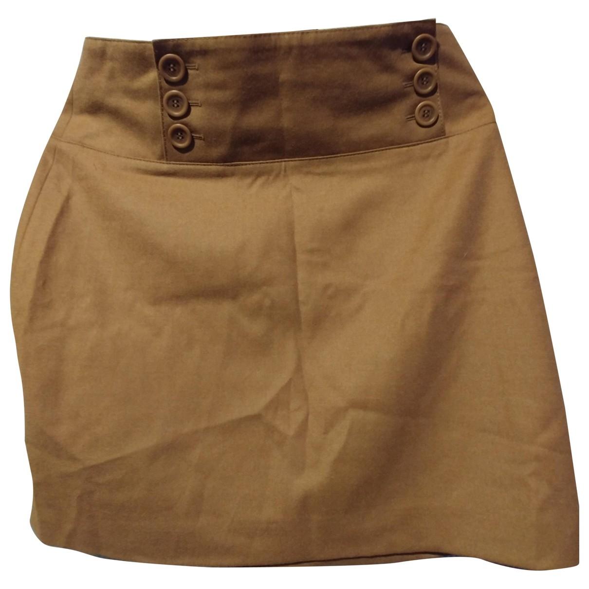 - Jupe   pour femme en laine - marron